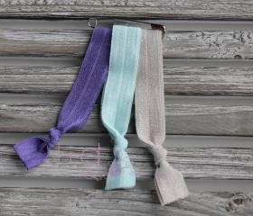 Rainy Day Elastic Hair Ties - 3pk