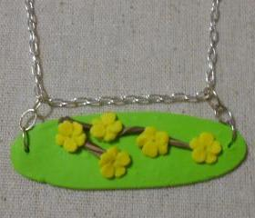 Yellow Sakura Blossom Necklace