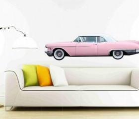 Classic Car Wall Decals 1958 Pink Cadillac Eldorado Biarritz