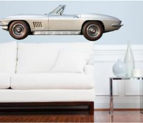 Classic Sports Car Wall Decal 1967 Corvette Sting Ray