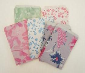 ♥ small 6cmX9.5cm Set 50 vintage flower 4 pattern mini candy recycle paper bag ♥