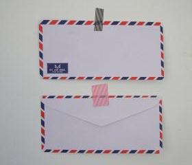 ♥ Set of 20 vintage style french airmail par avion flat envelope 23cm X 11cm 70gram ( Low stock ) ♥
