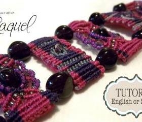 MicroMacrame TUTORIAL Bracelet &quot;Steps&quot; 