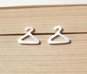 sterling silver hanger ear studs from the Sterling Silver Jewelry Collection