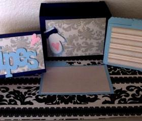 Recipe Box Set - Damask Design