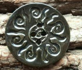 Spiral Sun button huge oversized