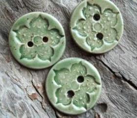 Beautiful mint green speckled buttons