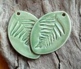 Fern leaf pendant huge
