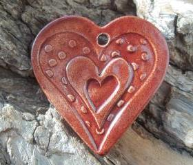 Heart shaped huge pendant