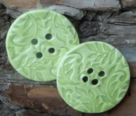 Huge oversized Ceramic Button large leaves