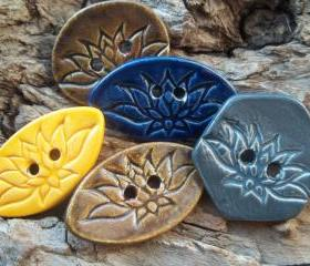 Lotus Flower Buttons