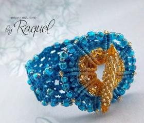 Micro Macrame TUTORIAL Bracelet &quot;Wheel&quot;
