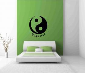 Yin Yang Wall Vinyl Decals