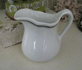 RESERVED... Ironstone Restaurant Ware MILK Pitcher