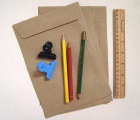20 Brown Kraft flat open end envelopes size A5 23cm X 16cm or for half A4