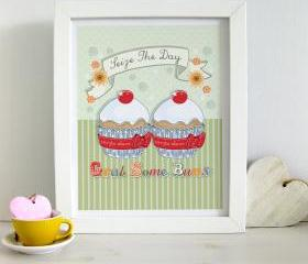 A4 Unframed Illustration Print 'Seize The Day'