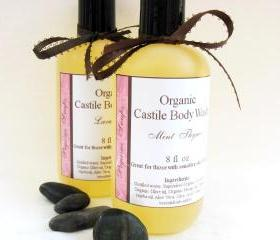 Organic Castile Mint Thyme Body Wash 8 oz