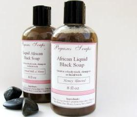 Honey Almond Liquid African Black Soap 8 oz