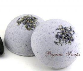 Lavender Foaming Bath Bombs