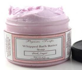 Pink Sugar Whipped Bath Butter Soap 4 oz