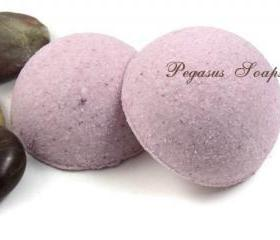 Pomegranate and Berries Foaming Bath Bombs 2 Half Domes