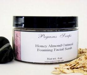 Honey Almond Oatmeal Foaming Facial Scrub 4 oz