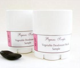 Sampler Vegetable Deodorant Stick .50 oz Select Your Own Scent