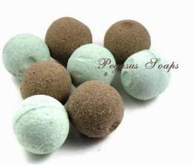 12 Chocolate Peppermint Foaming Mini Bath Bombs