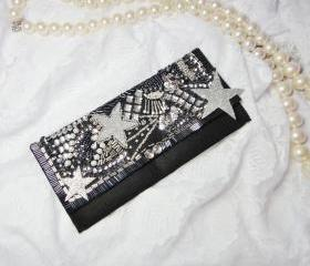 Star Nights Beaded Crystal Purse