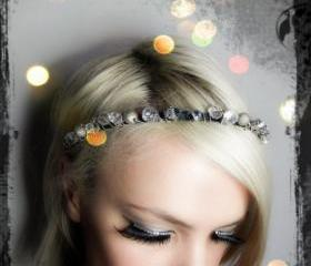Wrapped Silver Gemstones Headband