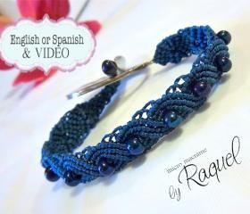 Esquema en Español/ Exotic Peacock Bracelet MicroMacrame TUTORIAL y VIDEO