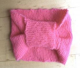 Large Pink Bow Hairband/Ear Warmer