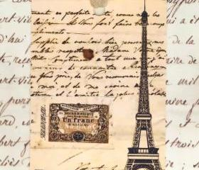 Tags Vintage Eiffel Tower Gift Tags by Bluebird Lane