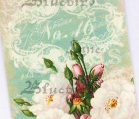 Vintage Style Bouquet of Roses No.16 tags by Bluebird Lane
