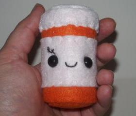Made to Order Kawaii Prescription Bottle Plushie