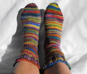 Rainbow Custom Size Womens Sock Socks sizes 7 8 9 10 11 12 shoe