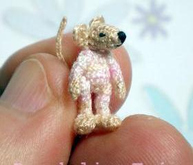 Baby Mouse - Miniature Crocheted Plush Toy