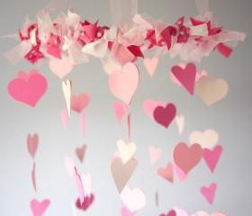 Pink Nursery Heart Mobile