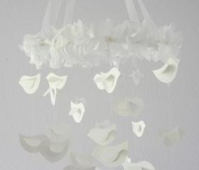 Bird Mobile for Baby Nursery Dcor, Wedding Chandelier, Baby Shower Gift, Photographer Prop