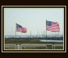 Patriotic Harbor 5 x 7 original photograph, other sizes available