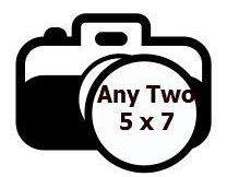 SPECIAL Any Two 5 x 7 Glossy Photographs