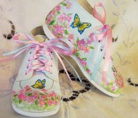 Toddler Shoes Leather Girl Butterfly Dressy Wedding 4.5 B