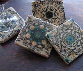 Venetian Escape stone coasters