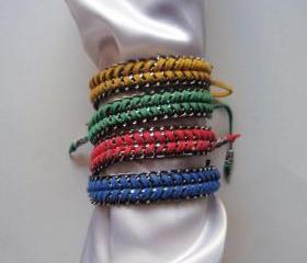 Vibrant summer - handwonen bracelet, fashion statement colorful happy modern gift CHOOSE your color