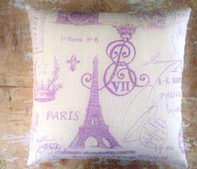 Eiffel Tower Pillow, French Country Home, Paris, Cottage Decor
