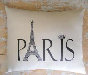 Paris Pillow, French Country Home, French Decor, Paris Decor, Cottage Decor