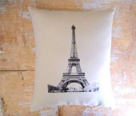 Eiffel Tower Pillow, French Country Home, French Decor, Cottage Decor