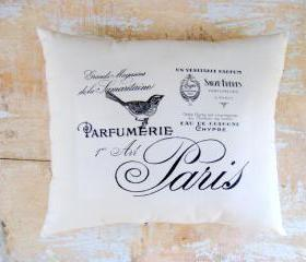 Bird Pillow, French Decor, Paris, French Country Home, Cottage Decor