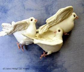 PDF Pattern Doves Soft Sculpture Wall Hanging 