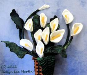 Primitive ttern Cala Lily Flower Sewing Pattern